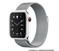 Apple Watch Series 5 GPS + Cellular mit 40mm oder 44mm, Keramik Milanaise Silber leasen